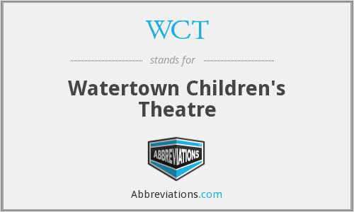 WCT - Watertown Children's Theatre