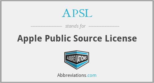 APSL - Apple Public Source License