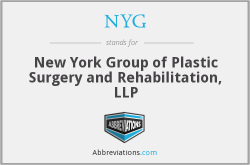 NYG - New York Group of Plastic Surgery and Rehabilitation, LLP