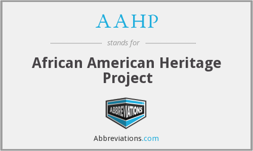 What does AAHP stand for?