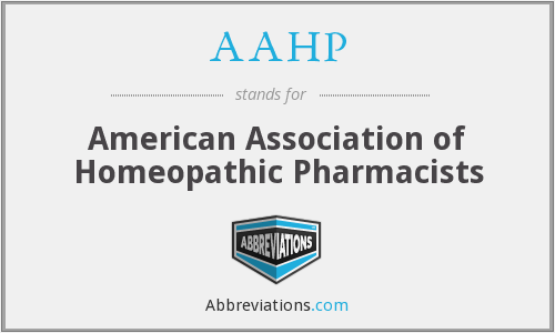 AAHP - American Association of Homeopathic Pharmacists