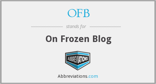 OFB - On Frozen Blog