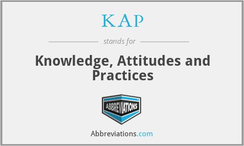 KAP - Knowledge, Attitudes and Practices