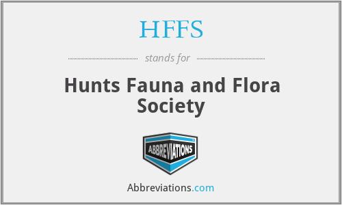 HFFS - Hunts Fauna and Flora Society