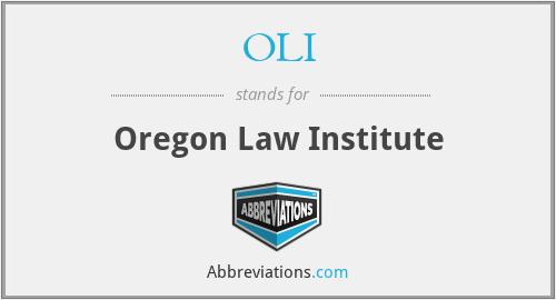 OLI - Oregon Law Institute