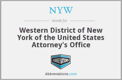 NYW - Western District of New York of the United States Attorney's Office