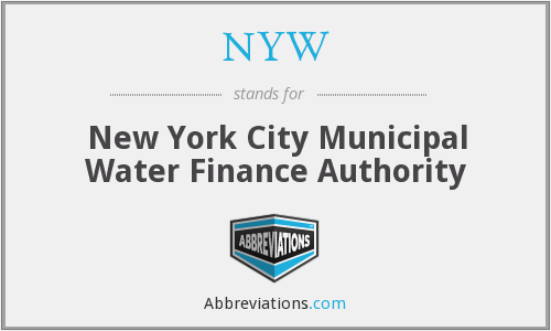 NYW - New York City Municipal Water Finance Authority