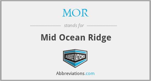 MOR - Mid Ocean Ridge