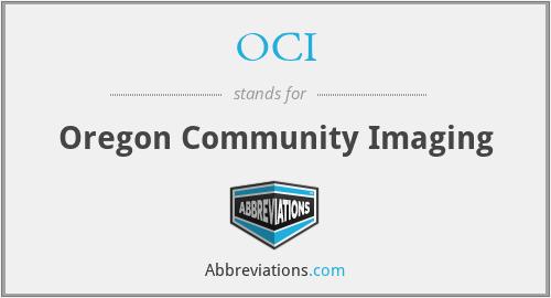 OCI - Oregon Community Imaging