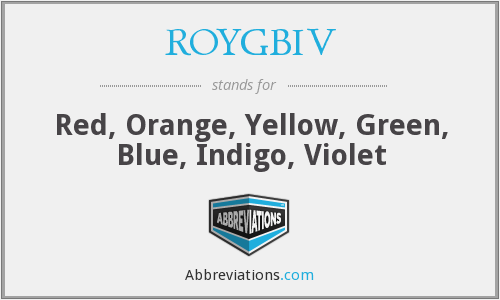 What does ROYGBIV stand for?