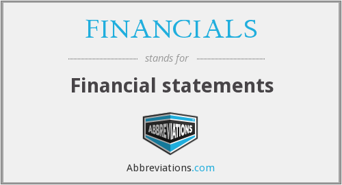 What does FINANCIALS stand for?