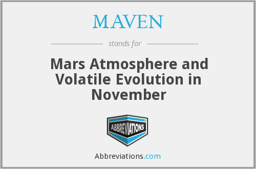 What does MAVEN stand for?