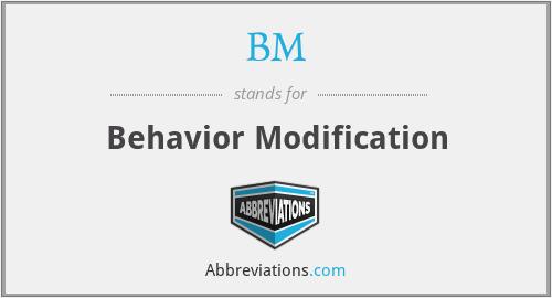 BM - Behavior Modification