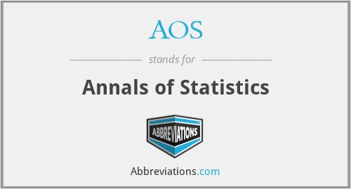 AOS - Annals of Statistics