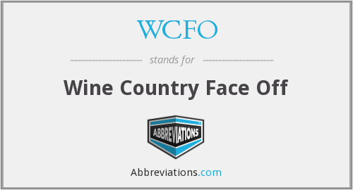 WCFO - Wine Country Face Off