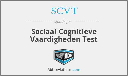 SCVT - Sociaal Cognitieve Vaardigheden Test