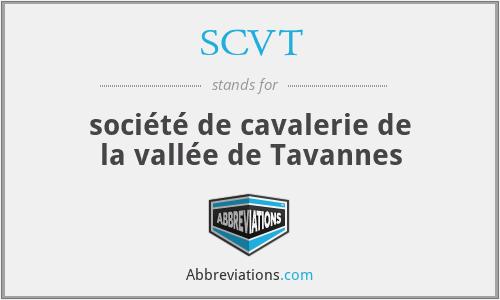 SCVT - société de cavalerie de la vallée de Tavannes