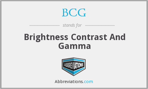 BCG - Brightness Contrast And Gamma