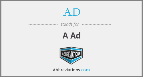 AD - A Ad