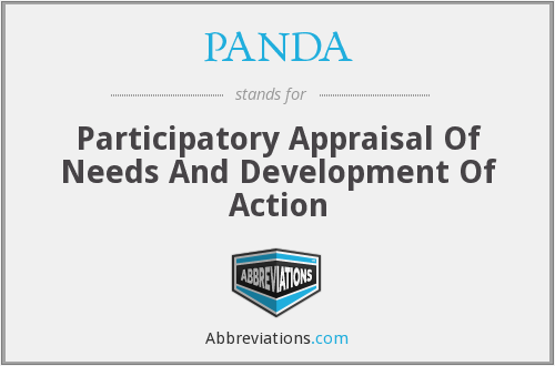 PANDA - Participatory Appraisal Of Needs And Development Of Action
