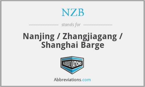 NZB - Nanjing / Zhangjiagang / Shanghai Barge