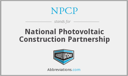NPCP - National Photovoltaic Construction Partnership