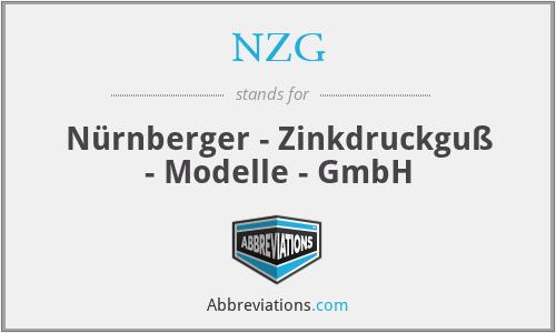 NZG - Nürnberger - Zinkdruckguß - Modelle - GmbH