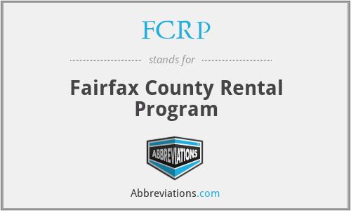 FCRP - Fairfax County Rental Program
