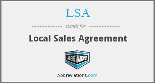 LSA - Local Sales Agreement