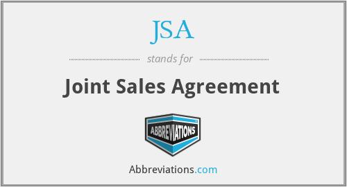 JSA - Joint Sales Agreement
