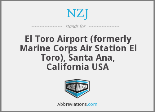 NZJ - El Toro Airport (formerly Marine Corps Air Station El Toro), Santa Ana, California USA