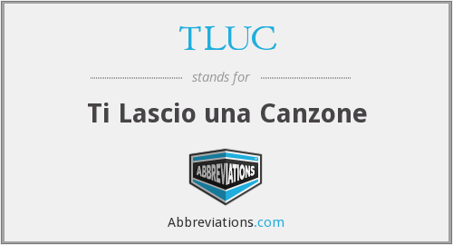 What does canzone stand for?