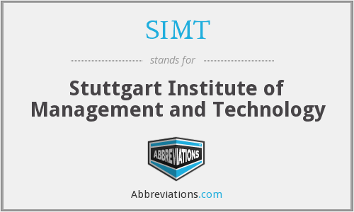 SIMT - Stuttgart Institute of Management and Technology