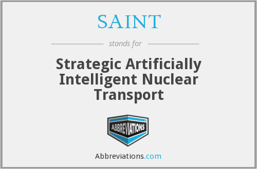 SAINT - Strategic Artificially Intelligent Nuclear Transport