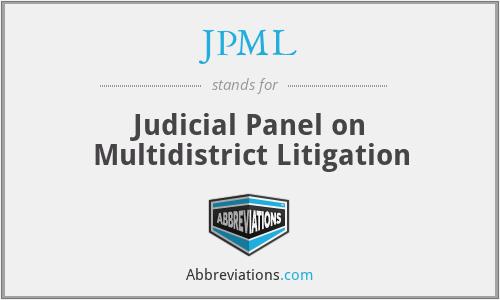 JPML - Judicial Panel on Multidistrict Litigation