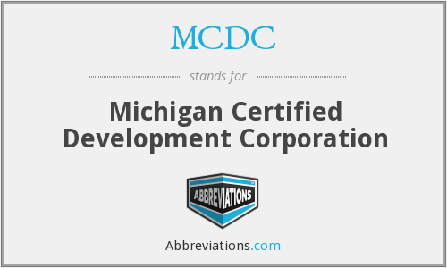 MCDC - Michigan Certified Development Corporation