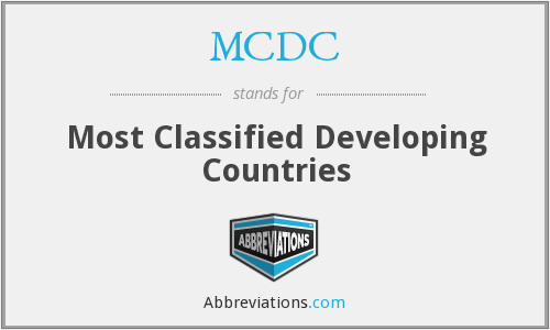 MCDC - Most Classified Developing Countries
