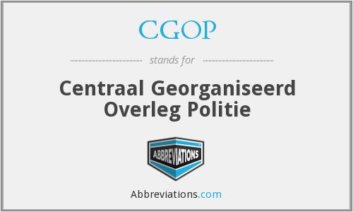 What does CGOP stand for?