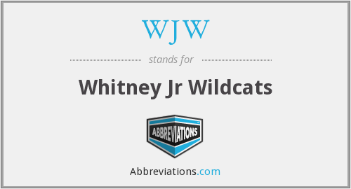 WJW - Whitney Jr Wildcats