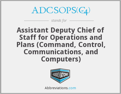 What does ADCSOPS(C-4) stand for?