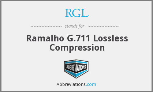RGL - Ramalho G.711 Lossless Compression