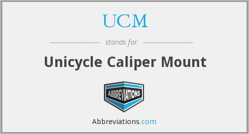 UCM - Unicycle Caliper Mount