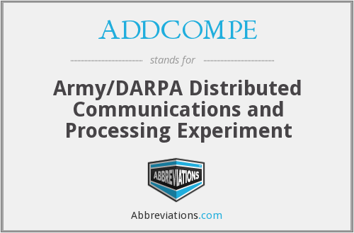 What does ADDCOMPE stand for?
