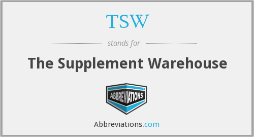 TSW - The Supplement Warehouse