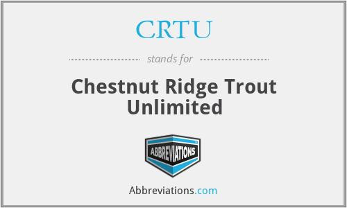 CRTU - Chestnut Ridge Trout Unlimited