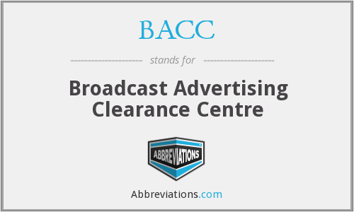 BACC - Broadcast Advertising Clearance Centre