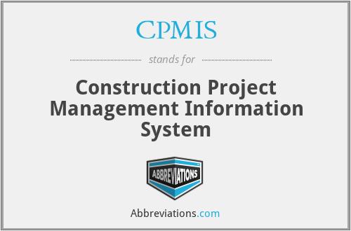 CPMIS - Construction Project Management Information System