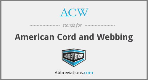 ACW - American Cord and Webbing
