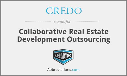 CREDO - Collaborative Real Estate Development Outsourcing