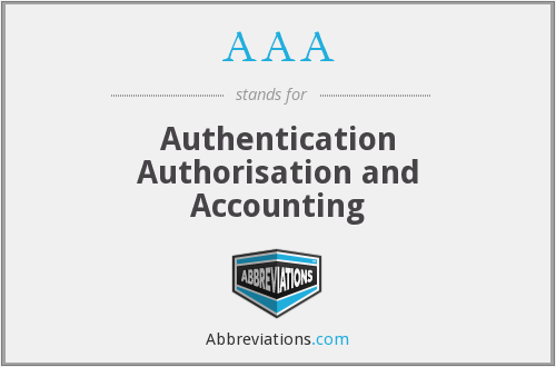 AAA - Authentication Authorisation and Accounting
